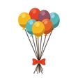 balloons colors ribbon fun isolated vector image