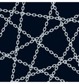 Chain pattern on black vector image