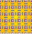 cheerful orange seamless background vector image