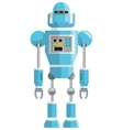 colorful blue robot icon vector image