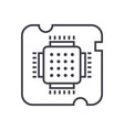 Cpu socketchip line icon sign vector image