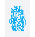 Funny grunge alphabet letters in retro style vector image