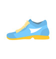 light blue athletic shoe cartoon vector image