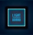 light board background night neon vector image