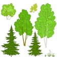 plants set vector image