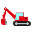 Red excavator vector image