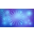 Shiny festive fireworks vector image