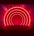 show light podium red background vector image