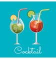 cocktail glass drink design vector image