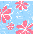 Bright sketchy flowers vector image