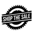 shop the sale rubber stamp vector image