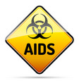 aids hiv biohazard virus danger sign with reflect vector image