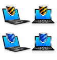 Computers Laptops Shield vector image vector image