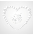 Pearl in heart shape on white background vector image vector image