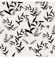 abstract background with seamless leaves pattern vector image
