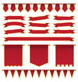 red ribbons and banners vector image vector image