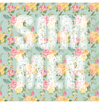 Summer Letters with Flowers vector image vector image