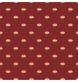 Tile pattern with cupcakes on brown background vector image