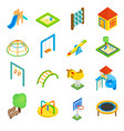 Playground isometric 3d icons vector image