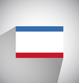 Flat Flag of Crimea vector image vector image