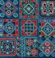 blue and red pattern vector image