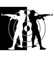 arrows from a Kalashnikov vector image vector image