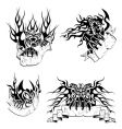 tribal big cats with labels vector image