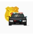 Police car  cop auto urban vector image