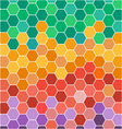 Abstract with hexagonal colored honey cells vector image