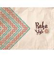 Boho style paper texture tribal handmade design vector image