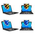 Computers Laptops Shield vector image