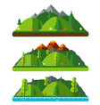 design nature landscapes hills and mountains vector image