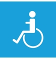 Disabled icon white vector image