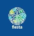 Holiday logo vector image