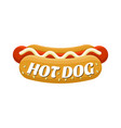 hot dog street food colorful image vector image