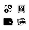 personal finance simple related icons vector image