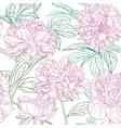 Seamless pattern of pink peonies graphics vector image