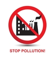Stop Pollution Icon vector image