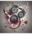 Sound Speaker with Floral3 vector image