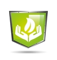 ecology shield safety icon vector image