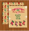 Christmas greeting card with an envelope vector image vector image