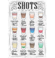 Shots menu retro vector image