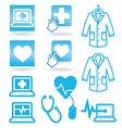 Set icons medical web vector image