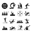 Water Sports Icons Black vector image