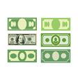 Set Money icon dollars cash Various paper money vector image