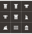 black column icon set vector image