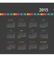 Calendar 2015 year with colored lines vector image
