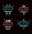 Dark racing urban badges vector image