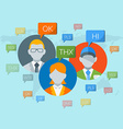Flat design concept for social media for we vector image
