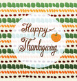 happy thanksgiving greeting card with pumpkin and vector image